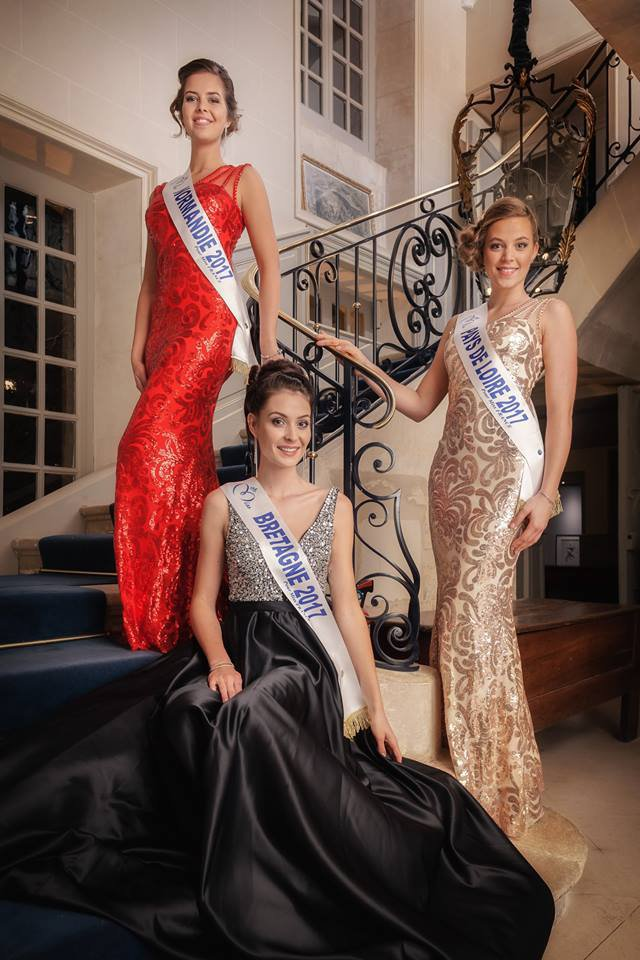 Photo officielle Miss Normandie 2017 ; Miss Bretagne 2017 et Miss Pays de Loire 2017