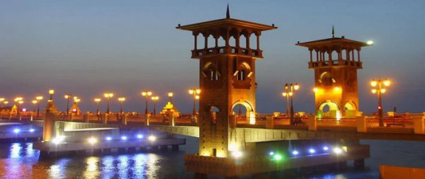 The ciy of Alexandria in Egypt