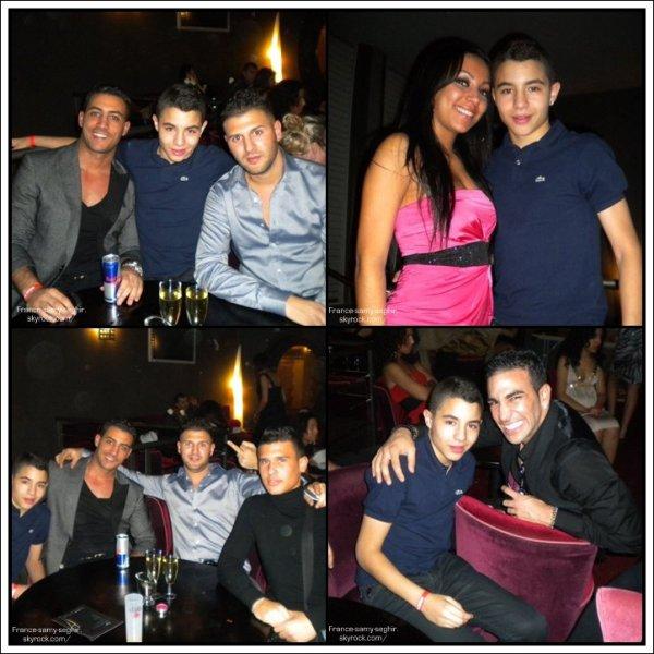 [04/01/11] Samy Seghir Et Khalid Et Mohamed , PS: samy ne sort pas avec la femme en ROSE! elle a deja son copain qui est present sur les photo !