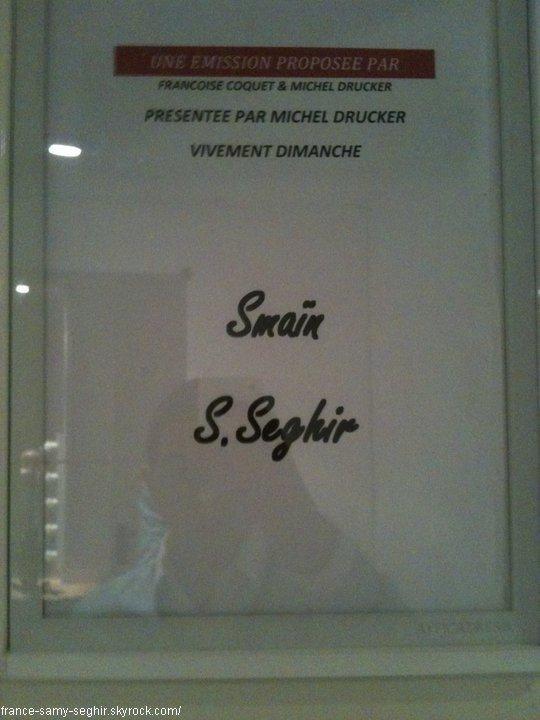 """[23/12/10]Photo Personnelle de samy Seghir Dans """"Vivement Dimanche"""""""