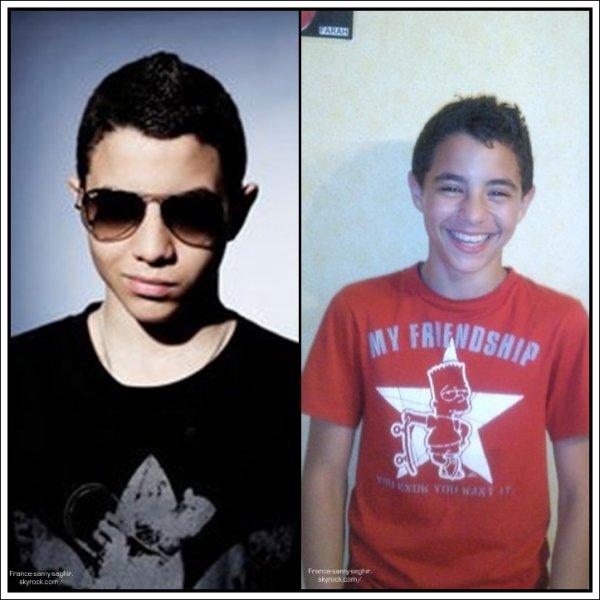 [26/03/11] A droite , ancienne photo de samy, et a gauche , Photoshoop De Samy pour Adidas