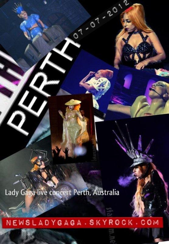 Lady Gaga en concert à Perth, Australie