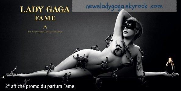Affiche promo pour le parfum Fame
