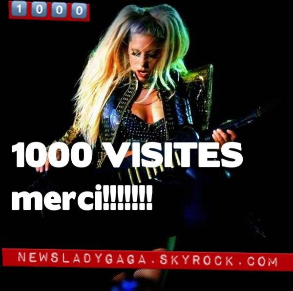 1000 visites, merci à vous