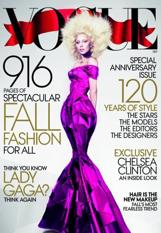 Lady Gaga en couverture de VOGUE US du mois de septembre