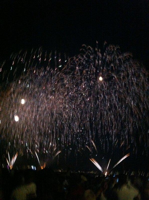 Feux d'artifice de Cannes pyrotechnique