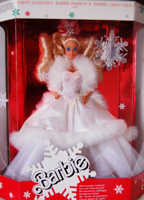 Barbie happy holidays 1989