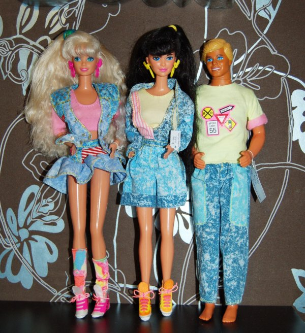 Barbie, kira et ken all american 1990
