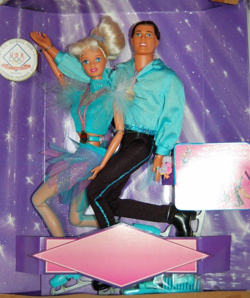 Barbie et ken Olympic skaters 1997