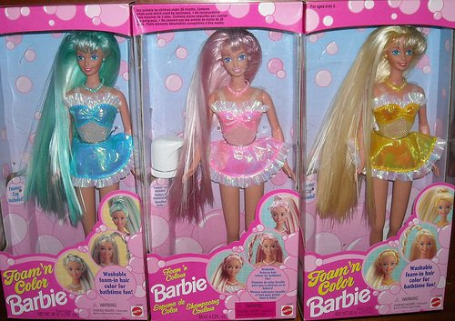 Barbie foam n' color 1996