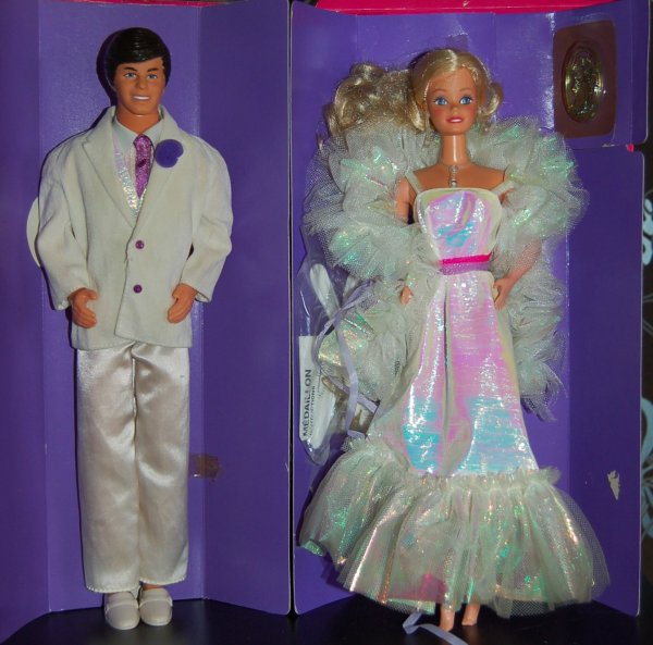 Barbie et ken crystal 1984