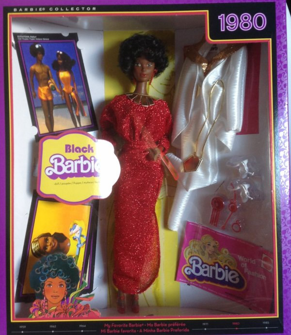 Barbie black 1980 repro