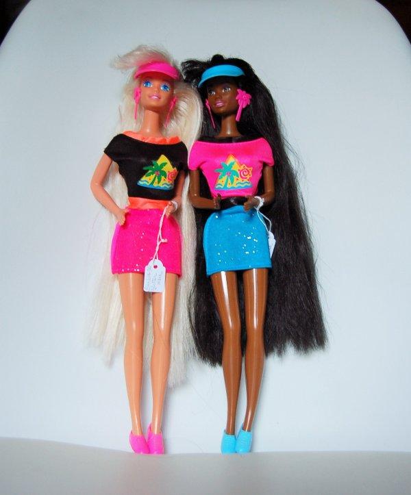 Barbie et Christie glitter hair 1994