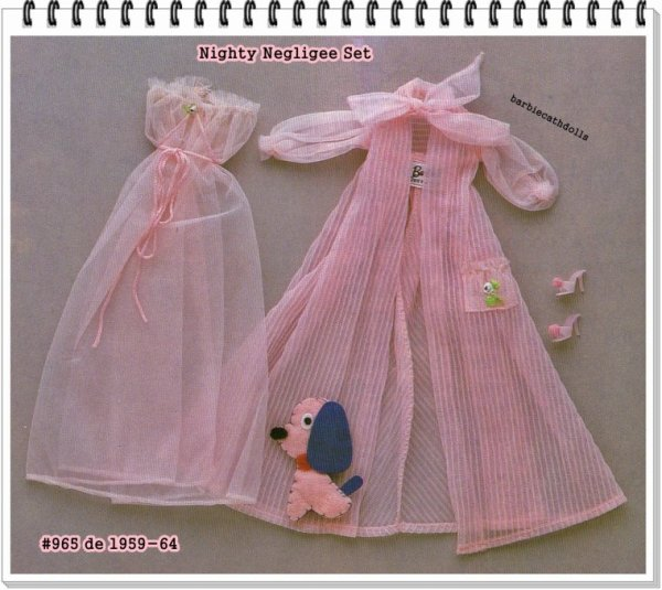 barbie Tenue nighty négligée # 965 1959