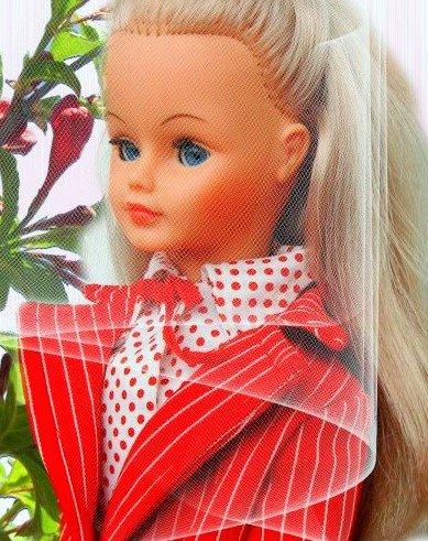 Poupée bella doline 50 cm  1972 et tenue cathie to night 1977
