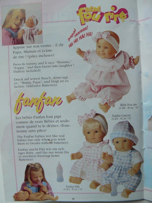 Corolle bébé fou rire  1998  36 cm