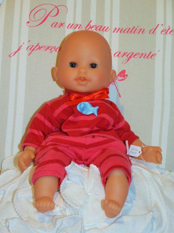Corolle Tidoo ensemble rayé rouge 2005 30 cm
