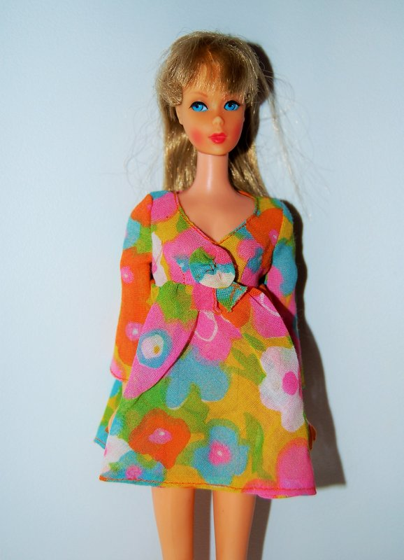 barbie tenue flower wower  #1453  1970