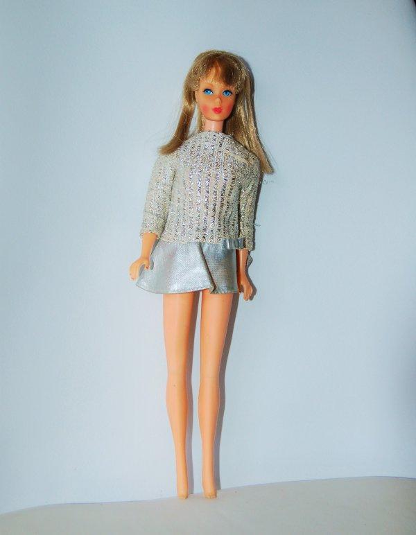 barbie tenue silver sparkle  #1885  1969