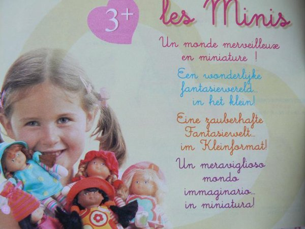 mini doucettes cannelle et cerise corolle  2005 20 cm