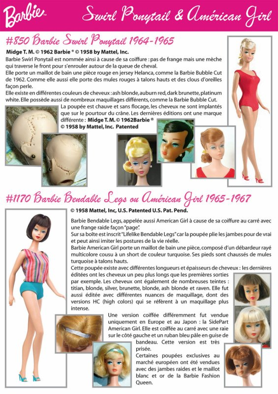 barbie swirl ponytail 1964-65
