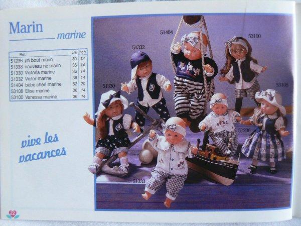 corolle vanessa marine 1995 36 cm