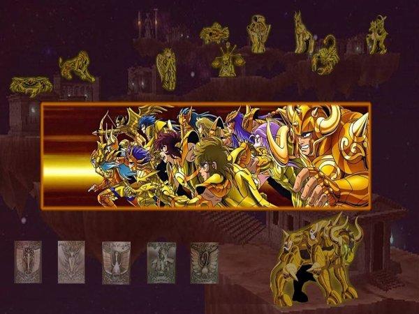 Chevaliers du Zodiaque  FOND ECRANT TROUVER SUR LE NET