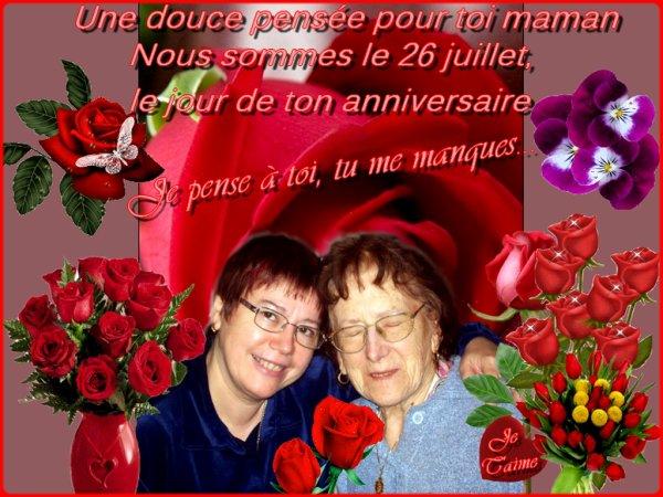 ♥ Une douce pensée pour ma maman ♥ Bisous à tous....Martine,