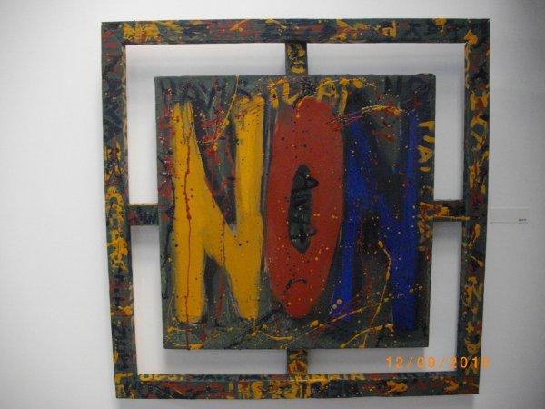 Non, série de 12, 3 formats, huile sur toile, 2012