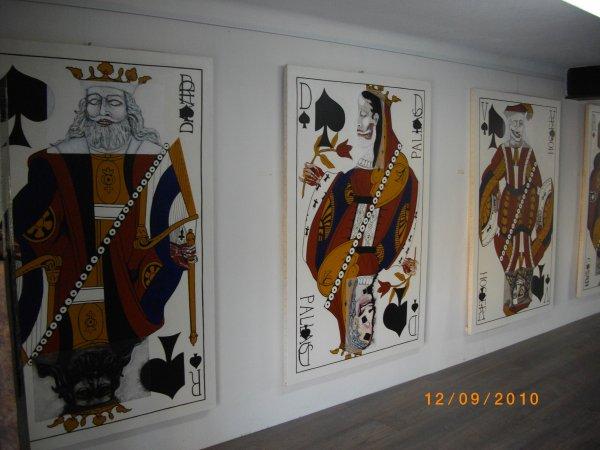 Cartes à jouer, série de 12, huile sur toile, 110x170, 2011