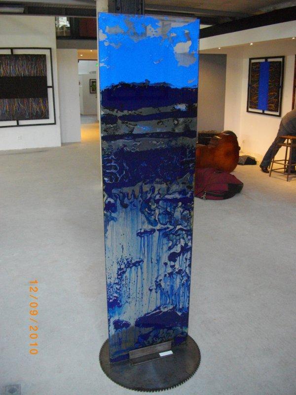 verre bleu