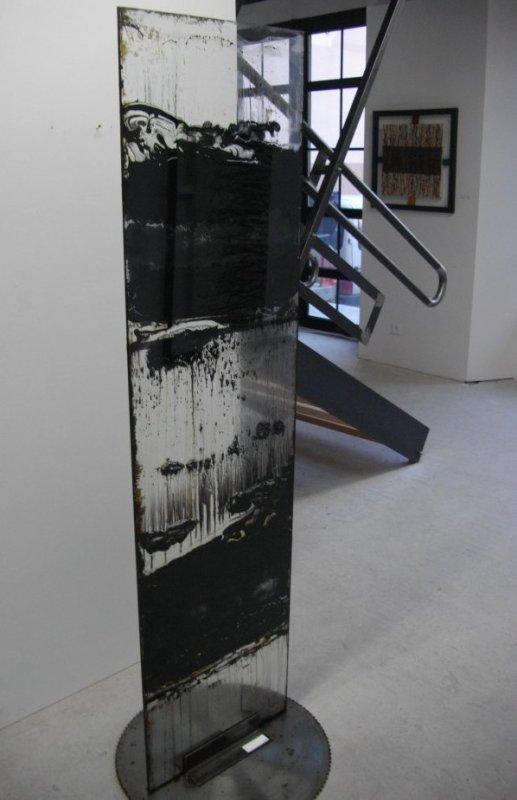 """verre noir, verre, peinture à l""""huile, 190x70, série de 5, 2006"""