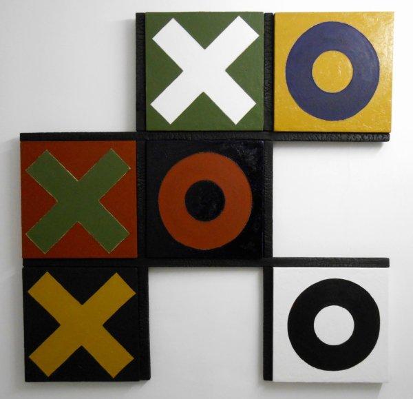 Morpion, série de 9 assemblages, 2012