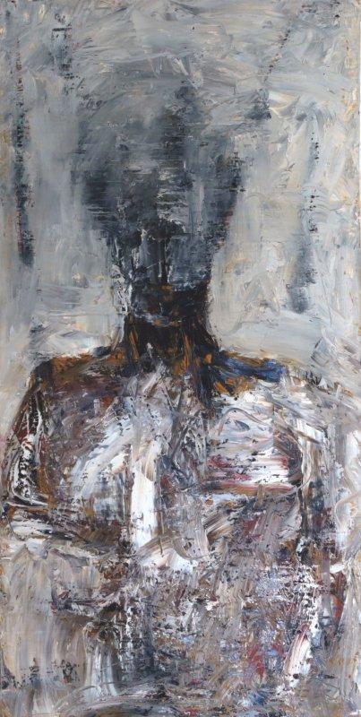 portrait, série de 3, huile sur toile, 70x120, 2004
