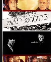 HAPPY BIRTHDAY FRODO AND BILBO BAGGINS.