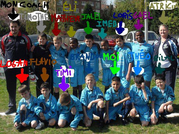 la c'est mon équipe de foot en 2eme preminime : le sc Montignies
