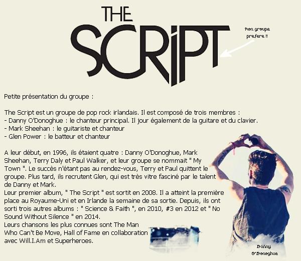 Musique : The Script.