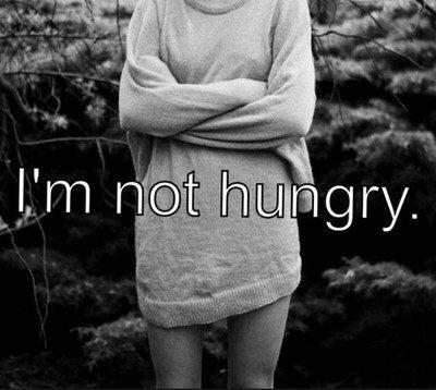 La nourriture n'a pas de problème avec moi, j'en ai un avec elle.