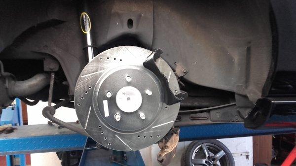 Réfection freins arrières et câble frein à main