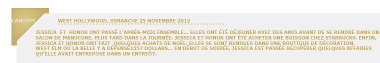 Jessica Alba, enfin de sortie avec Honor!
