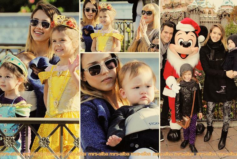 Jessica Alba et sa famille à Disneyland