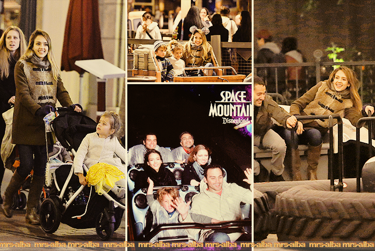 Jessica Alba avec sa famille à Disneyland (jour 2)