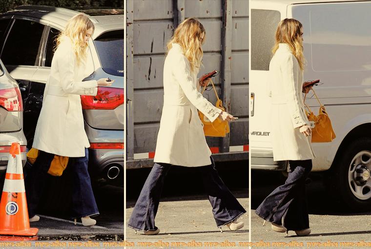 Jessica Alba se rendant sur le tournage d'un film