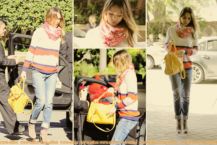 Jessica Alba de sortie dans Los Angeles