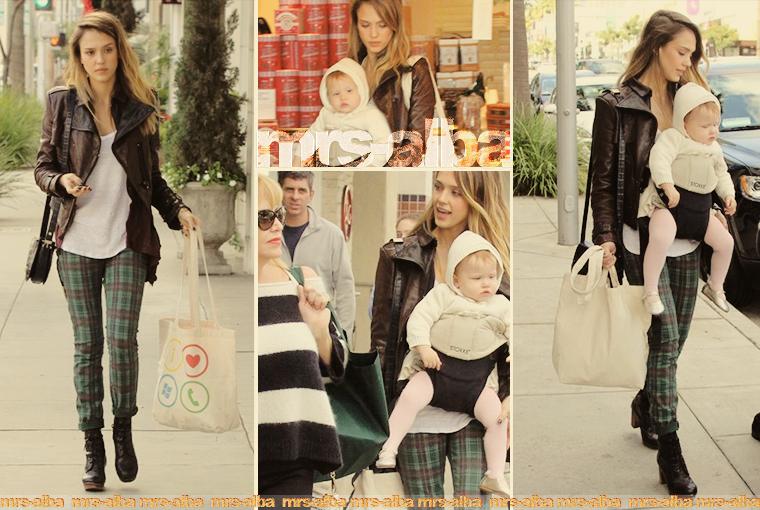 Jessica Alba de sortie avec Haven et sa maman