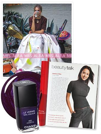 Jessica Alba faisant la couverture d'Instyle Magazine (février 2013)