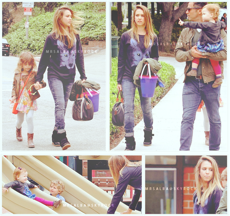 Jessica Alba au parc avec sa famille #JessicaAlba #People #Fashion