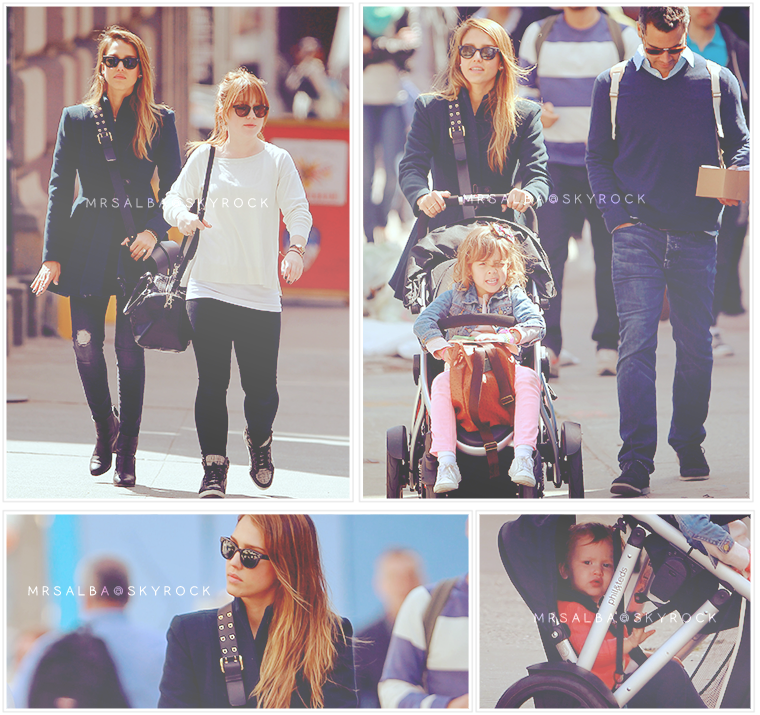 Jessica Alba et sa famille à NYC #JessicaAlba @JessicaAlba #People #Fashion #NYC