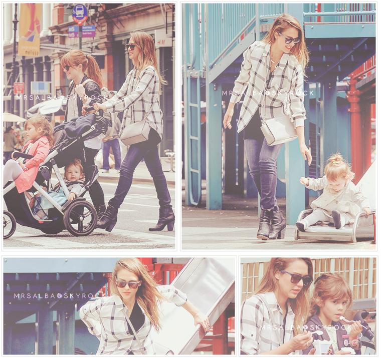 Jessica Alba à NYC avec ses filles #JessicaAlba #NYC #People #Fashion