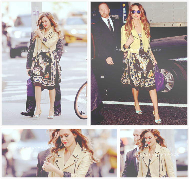 Jessica Alba à NYC #JessicaAlba #People #Fashion @JessicaAlba #NYC
